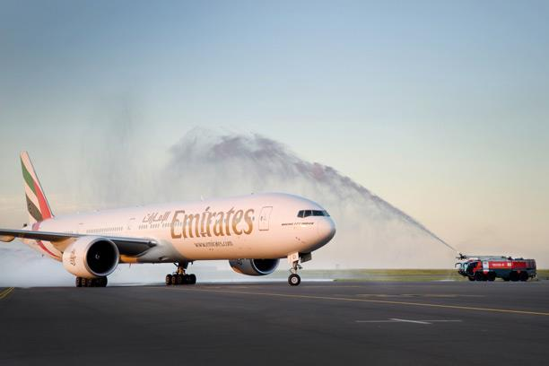 video production of Emirates Boeing 777-300ER in Durban