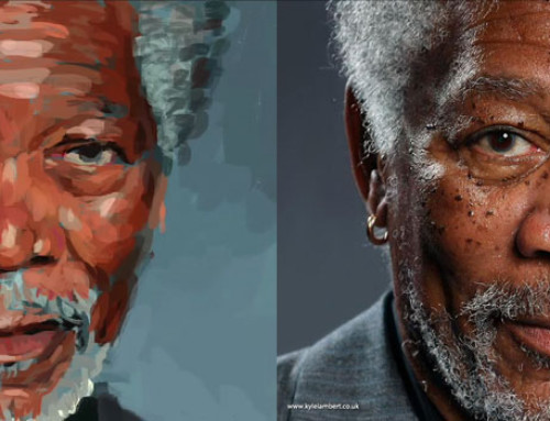 Incredible Digital illustration of Morgan Freeman