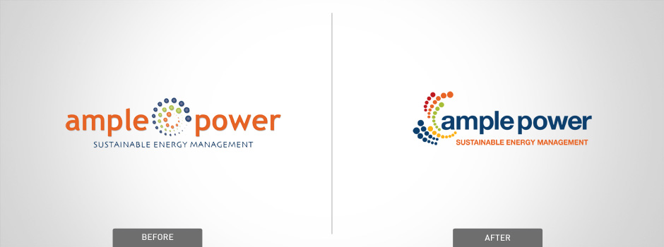 Ample power before and after logo design