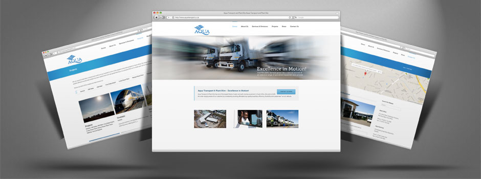 Aqua Transport website design