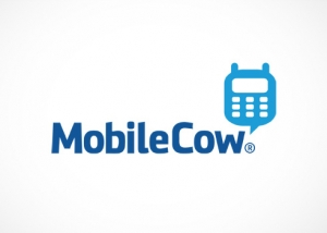 mobile cow logo design