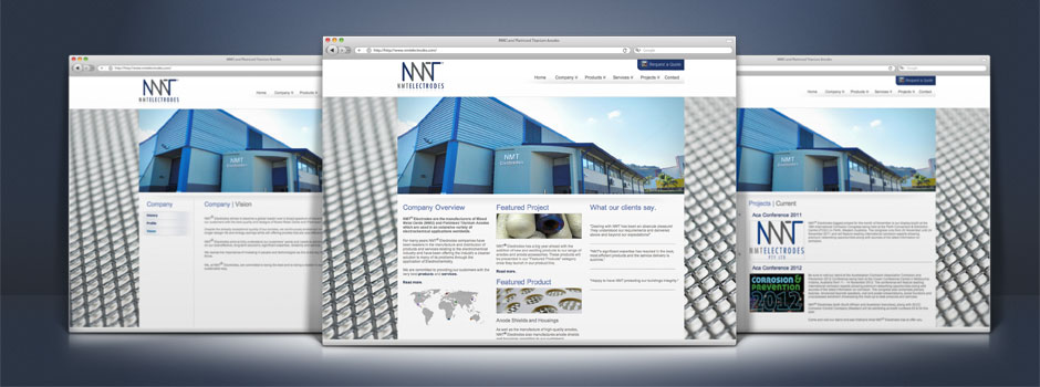 nmt electrodes website design