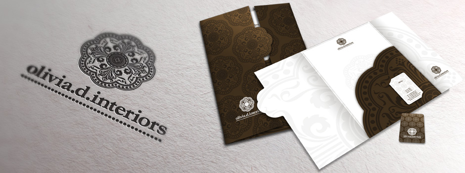 Olivia d interiors corporate identity design