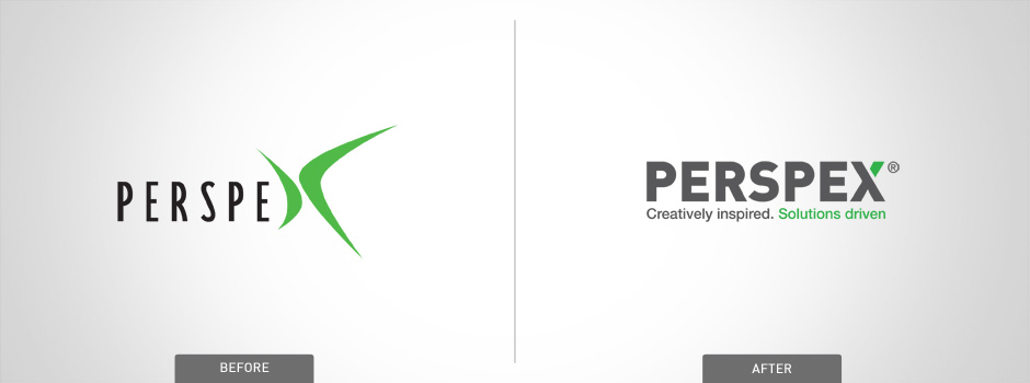 perspex before and after logo design