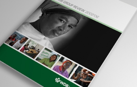 WDB annual report cover design