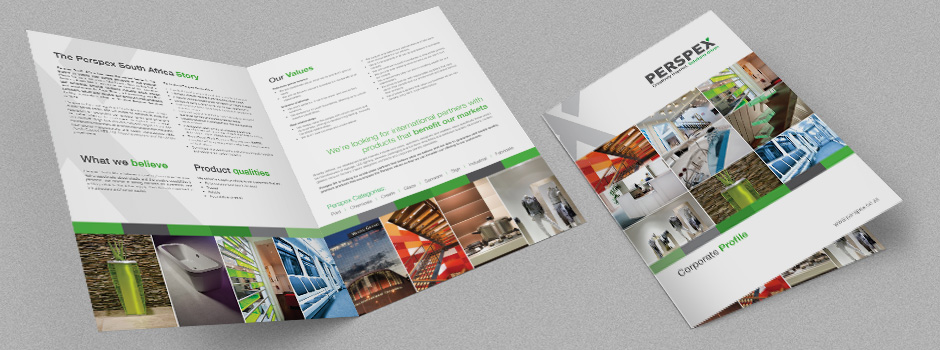Perspex Corporate profile brochure design