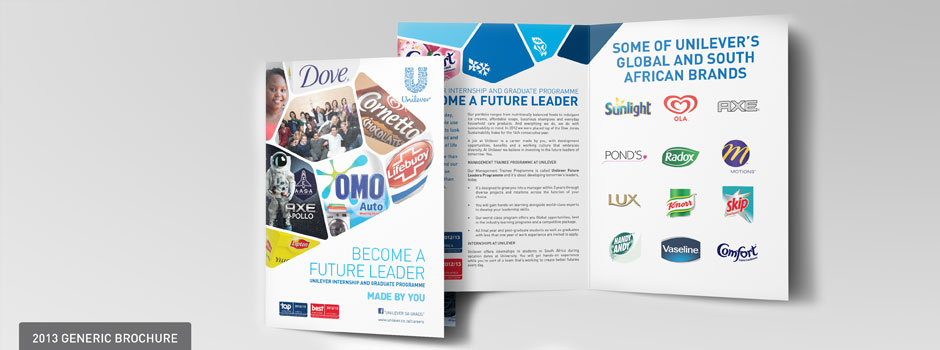 Unilever Employer Brand Graduate Recruitment Campaign brochure design