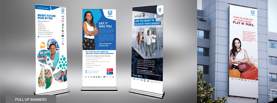 Unilever Employer Brand Graduate Recruitment Campaign pull-up banner design