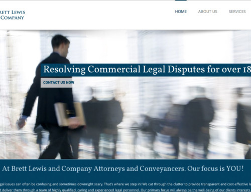Website Design: Brett Lewis Attorneys