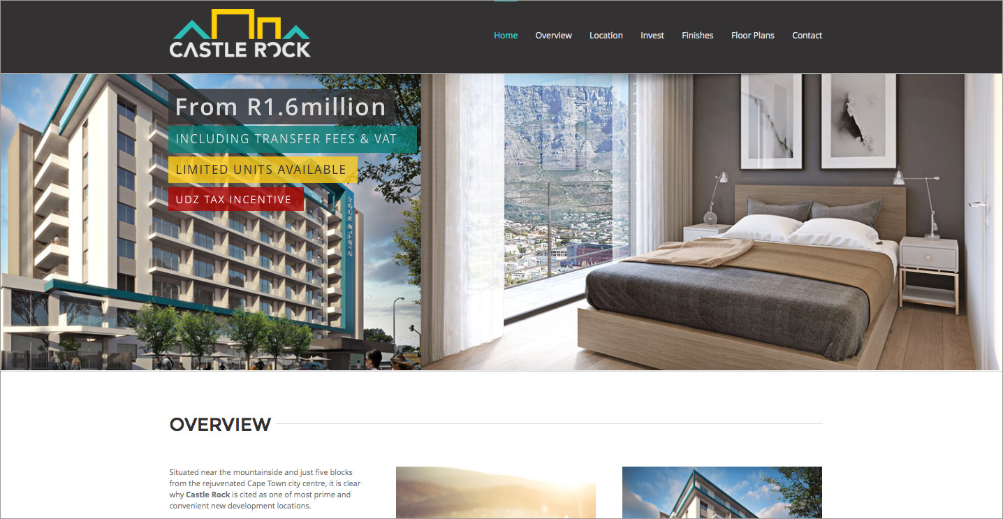 Website design for Property Developer in Cape Town South Africa