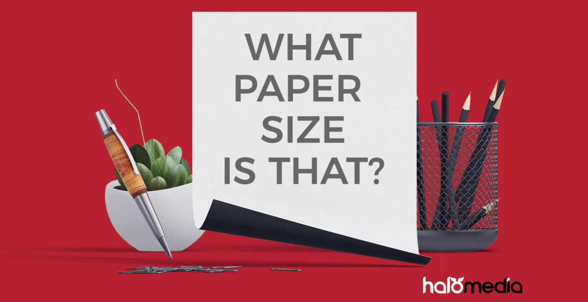 What paper size is needed for Graphic Design