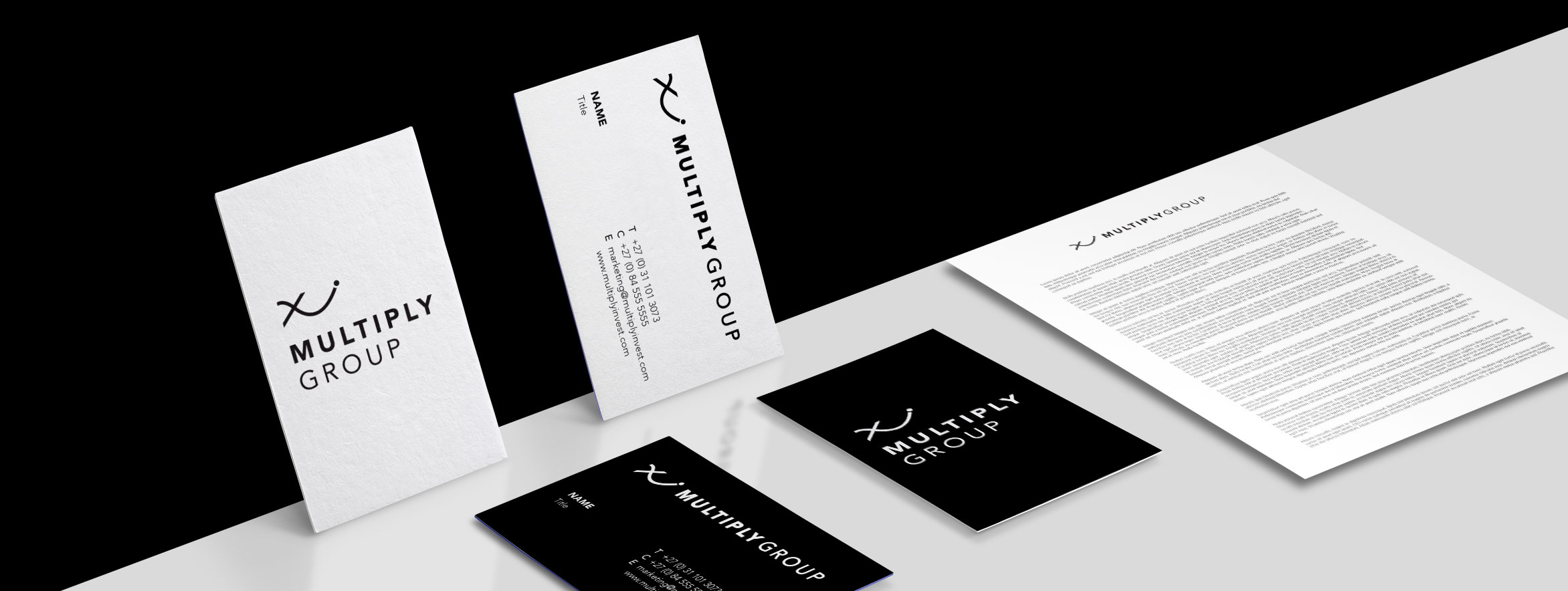 Logo and Business Card design for private equity, private investment and joint venture company