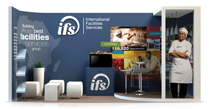 Facilities Management Marketing example - exhibition stand design