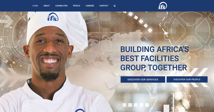 Facilities Management Marketing example - website design