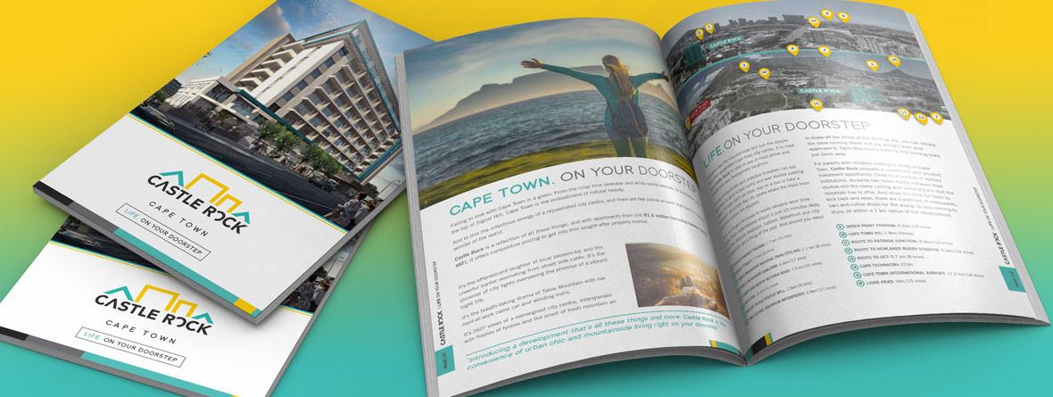 Property development brochure design south africa and united kingdom
