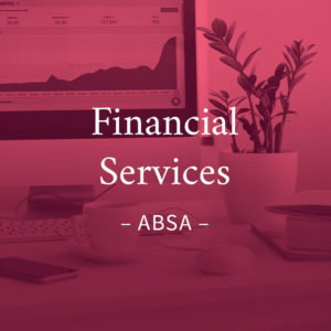 Financial services design and marketing for Absa in UK and South Africa